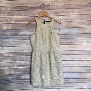 Zara gold glitter style fit and flare dress